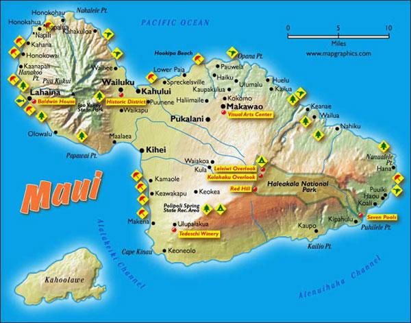 Photo of the island of Maui